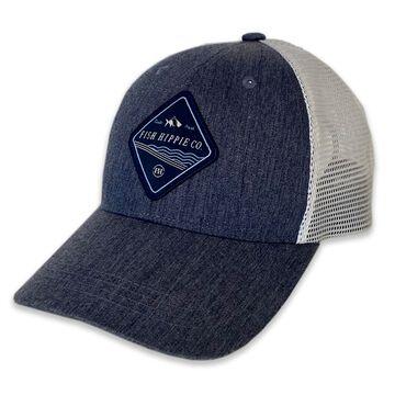 Fish Hippie Mens Shoreline Heathered Trucker Hat