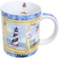 Cape Shore Maine Lighthouse Shore Mug