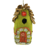 Wild Woolies Forest House Hand-Felted Birdhouse