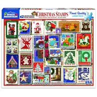 White Mountain Jigsaw Puzzle - Christmas Stamps