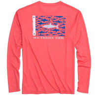 Southern Tide Men's Great White Fish Flag Performance Long-Sleeve Shirt