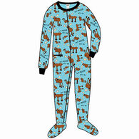 Lazy One Toddler Boys' Don't Moose With Me Footeez Pajamas