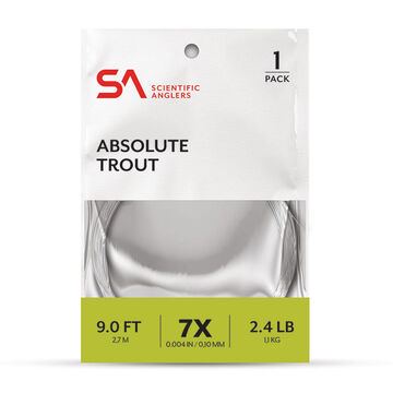 Scientific Anglers Absolute Trout Tapered Leader - 9 Ft.
