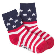 K. Bell Youth Stars and Stripes Crew Sock