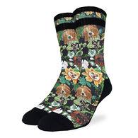 Good Luck Sock Men's Botanical Dogs Crew Sock