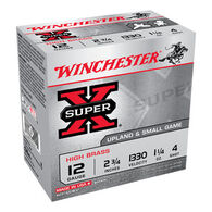 "Winchester Super-X High Brass 12 GA 2-3/4"" 1-1/4 oz. #4 Shotshell Ammo (25)"
