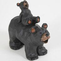 Slifka Sales Co Bear And Cub Piggy Back Figurine