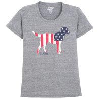 15528b756e60e9 Lakeshirts Women's Blue 84 Kennel Club Lab Maine Short-Sleeve T-Shirt