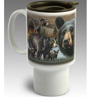 American Expedition Black Bear Stoneware Travel Mug