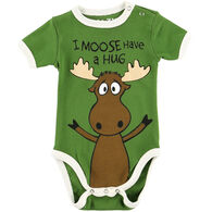 Lazy One Infant Boy's Moose Hug Creeper