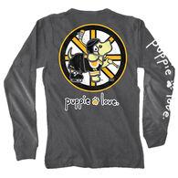 Puppie Love Women's Hockey Pup Long-Sleeve T-Shirt