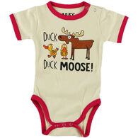 Lazy One Infant Girl's Duck Duck Moose Creeper Onesie