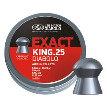 JSB Match Diabolo Exact King 25 Cal. 6.35mm 25.39 Grain Air Gun Pellet (150)
