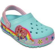 Crocs Girls' CrocsLights Rainbow Heart Clog