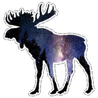 Sticker Cabana Moose Sticker