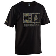 Grundens Men's Location Logo Short-Sleeve Shirt