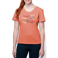 Earth Creations Women's Fly Away Better Than Before Scoop Short-Sleeve T-Shirt