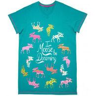 Hatley Women's Patterned Moose Sleepshirt