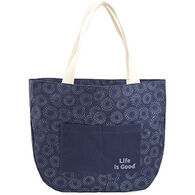 Life is Good Women's Darkest Blue Around Town Tote