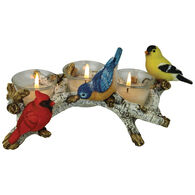 Rivers Edge Birch With Birds Candle Holder, 3-Piece