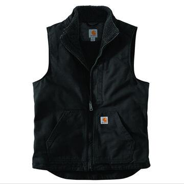 Carhartt Mens Washed Duck Sherpa-Lined Mock Vest