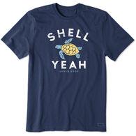 Life is Good Men's Shell Yeah Crusher Short-Sleeve T-Shirt