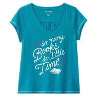 Hatley Little Blue House Women's Book Club Jersey V-Neck Sleep Tee