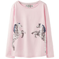Joules Girl's Ava Applique Long-Sleeve Shirt