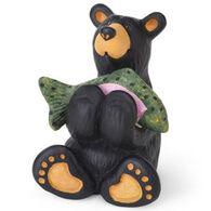 Big Sky Carvers Tiny Bear Cub with Fish Mini Figurine