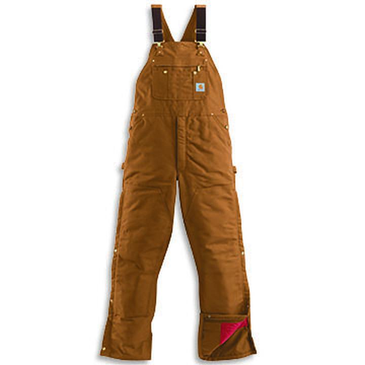 Carhartt Men's Quilt Lined Duck Zip-to-Thigh Bib Overall ...