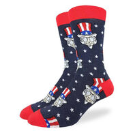 Good Luck Sock Men's Cool Uncle Sam Crew Sock