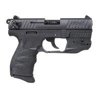 """Walther P22 QD Black 22 LR 3.42"""" 10-Round Pistol w/ Laser"""