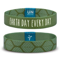 Unselfie Women's Earth Day Olive Leaf Pattern Wrist Band