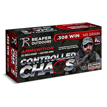 Reaper Outdoors Controlled Chaos 308 Winchester 145 Grain Rifle Ammo (20)