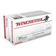 Winchester USA 38 Special 130 Grain FMJ SPVP Handgun Ammo (100)
