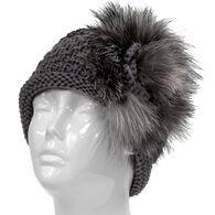 Mitchies Matchings Women's Knitted Fox Fur Headband