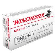 Winchester 7.62x54R 180 Grain Metric Caliber FMJ Rifle Ammo (20)