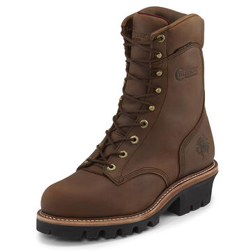 Chippewa Mens Limited Edition Crazy Horse Leather Super Logger Insulated Steel Toe Work Boot
