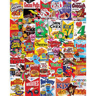 White Mountain Jigsaw Puzzle - Cereal Boxes