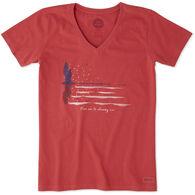 Life is Good Women's Shining Sea Crusher Vee Short-Sleeve T-Shirt