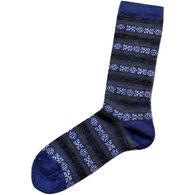Tey-Art Women's Geo Striped Crew Sock