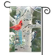 BreezeArt Winter Birds Garden Flag