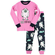 Lazy One Toddler Girl's Yeti For Bed PJ Set