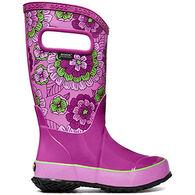 Bogs Girls' Pansies Waterproof Rain Boot