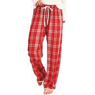 Hatley Little Blue House Women's Festive Plaid Lounge Pajama Pant
