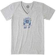 Life is Good Women's All In ATV Crusher Vee Short-Sleeve T-Shirt