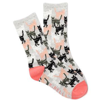 K. Bell Youth Kitty Camo Crew Sock