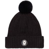 J. Lindeberg USA Women's Fur Ball Wool Blend Hat