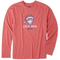 Life is Good Men's Life Is Merry Good Crusher Tee Long-Sleeve T-Shirt