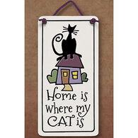 "Spooner Creek ""Home Is Where My Cat Is"" Mini Charmer Tile"